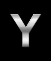 Alfabet stickers letter y trend