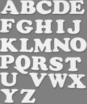 Alfabet wit karton 3 sets trend