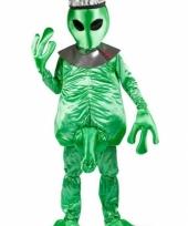 Alien kostuum groen heren trend