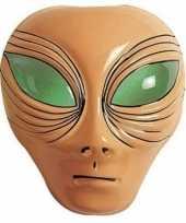 Alien verkleed masker bruin voor volwassenen trend