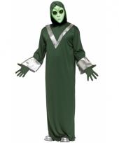 Alien verkleedoutfit groen trend