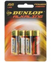 Alkaline batterijen lr6 aa dunlop 4 stuks trend