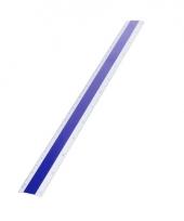 Aluminium liniaal 30 cm blauw trend