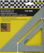 Aluminium meetdriehoek 15 cm trend