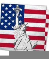 Amerikaanse thema servetten 20 st trend