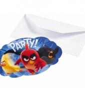 Angry birds uitnodigingen 8 stuks trend