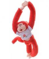 Apen knuffeldieren rood 40 cm trend