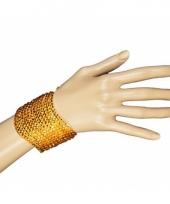 Armband met gouden pailletten trend