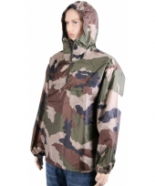 Army print regenjas trend
