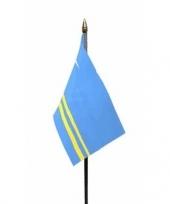 Aruba vlaggetje met stokje trend