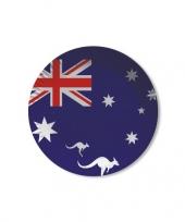 Australie wegwerpbordjes 8 st trend