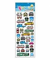 Auto en bussen stickervellen trend