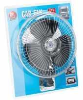 Auto ventilator 25 cm met 24v aansluiting en klem trend