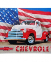 Auto wand decoratie chevrolet usa trend