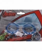 Avengers kinder zwembril blauw 3 tot 12 jaar trend