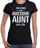Awesome aunt tante cadeau t-shirt zwart dames trend