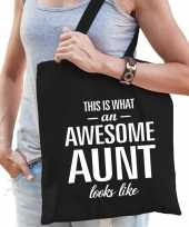 Awesome aunt tante cadeau tas zwart voor dames trend