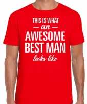 Awesome best man getuige cadeau t-shirt rood heren trend
