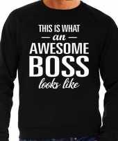 Awesome boss baas cadeau sweater zwart heren trend