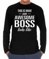 Awesome boss baas cadeau t-shirt long sleeves heren trend