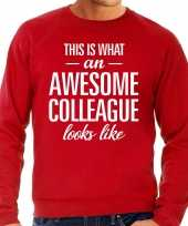 Awesome colleague collega cadeau sweater rood heren trend