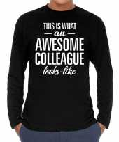 Awesome colleague collega cadeau t-shirt long sleeves heren trend