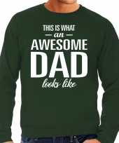 Awesome dad cadeau sweater groen heren vaderdag cadeau trend