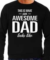 Awesome dad cadeau sweater zwart heren vaderdag cadeau trend