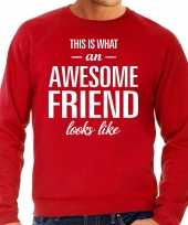 Awesome friend vriend cadeau sweater rood heren trend