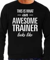 Awesome geweldige trainer cadeau sweater zwart heren trend
