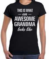 Awesome grandma oma cadeau t-shirt zwart dames trend