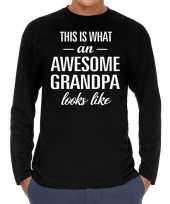 Awesome grandpa opa cadeau shirt long sleeves heren trend