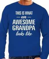 Awesome grandpa opa cadeau sweater blauw heren trend