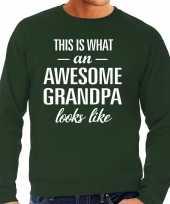 Awesome grandpa opa cadeau sweater groen heren trend