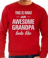 Awesome grandpa opa cadeau sweater rood heren trend
