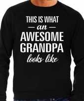 Awesome grandpa opa cadeau sweater zwart heren trend
