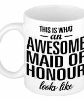 Awesome maid of honour cadeau mok beker voor getuige 300 ml trend