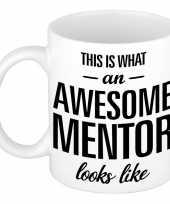 Awesome mentor cadeau mok beker voor leraar 300 ml trend