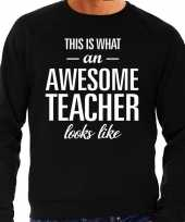 Awesome teacher leraar cadeau sweater zwart heren trend