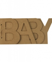 Baby letters boekje papier mache trend