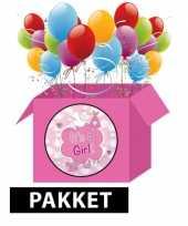 Baby versiering roze pakket trend
