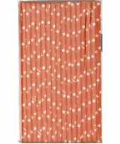 Babyshower oranje rietjes met ster van papier trend