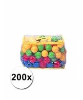Ballenbak ballen 200 stuks in tas trend