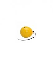 Ballon spaarpot geel trend