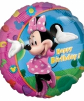 Ballon van folie minnie mouse happy birthday 45 cm trend