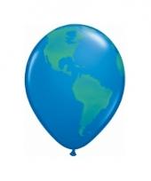 Ballon wereldbol 40 cm trend