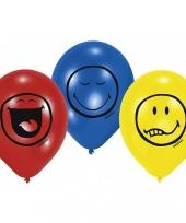 Ballonnen met smiley bedrukking trend