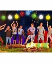 Ballonnen slinger met gekleurde led verlichting trend