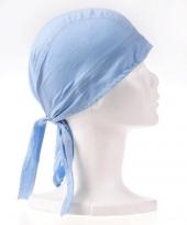Bandana in de kleur lichtblauw trend