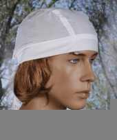 Bandana in de kleur wit uni 1 trend